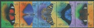 AUS SG1810a Butterflies strip of 5